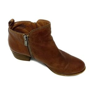 Lucky brand brown leather booties size 8